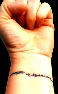 "M.S. Warrior tattoo on left wrist because we don't ""survive"" M.S. we fight it, daily!"