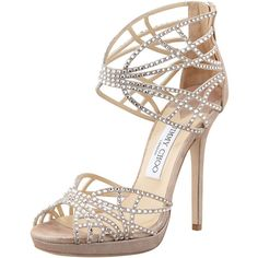 Jimmy Choo Diva Crystal Cutout Sandal ($1,495) ❤ liked on Polyvore featuring shoes, sandals, heels, high heels, sapatos, high heel platform sandals, jimmy choo sandals, platform shoes, heeled sandals and high heel platform shoes