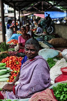 Market ladies in India by dhaneshr, via Flickr