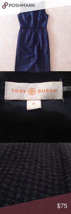Tory Burch tweed dress navy blue Tory Burch tweed dress navy blue Tory Burch Dresses