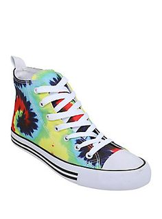 Psychedelic Sneakers // Tie Dye Hi Top Sneakers