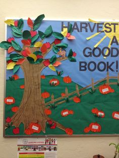 Fall bulletin board for Mrs. Young!