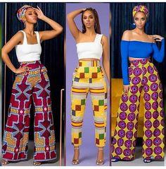 African pants 3 ways African Fashion Ankara, African Inspired Fashion, Latest African Fashion Dresses, African Dresses For Women, African Print Fashion, Africa Fashion, African Attire, African Wear, Nigerian Fashion