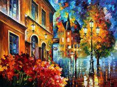 LUCKY NIGHT - PALETTE KNIFE Oil Painting On Canvas By Leonid Afremov http://afremov.com/LUCKY-NIGHT-PALETTE-KNIFE-Oil-Painting-On-Canvas-By-Leonid-Afremov-Size-30-x40.html?bid=1&partner=20921&utm_medium=/vpin&utm_campaign=v-ADD-YOUR&utm_source=s-vpin