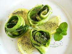 Ricetta Zucchine marinate con foglie di Menta fresca