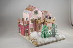 Spanish themed glitter house.