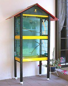 ♥ Pet Bird DIY Ideas ♥ diy cockatiel cage