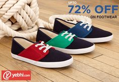 Upto 72% OFF on Footwear at Yebhi. Click to Buy: http://www.grabon.in/yebhi/m/ #Footwear #Shopping #Yebhi