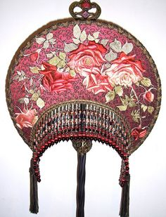 Hey, I found this really awesome Etsy listing at https://www.etsy.com/listing/157237770/embroidered-roses-antique-floor-lamp