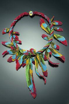 Parrot Feathers   BeadWoven Vibrant Feather par gypsyeyesjewelry, $1500.00