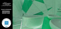 Jeden z wyróżnionych projektów w konkursie Roca Designer, wysłała do nas Weronika Messyasz. Projekt ten, to geometryczny zawrót głowy, który w nowoczesny i kreatywny sposób łączy w sobie wszystkie funkcjonalności przestrzeni, jaką jest łazienka.