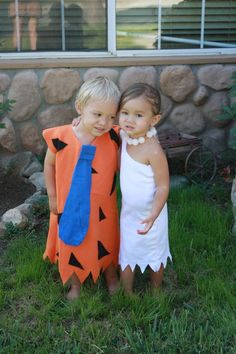 what a cute idea! @Barbara Lombard.   Kara and one of boy friends ..... Pebbles and Bam Bam