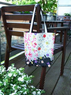 Reversible tote bag, sewing pattern