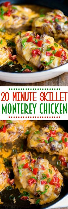 Got 20 minutes? This 20 Minute Skillet Monterey Chicken is just what you want to make for dinner tonight. Chicken, barbecue sauce, bacon, and glorious cheese come together in this delightful yet simple dish. Sure to become a regular request at Turkey Recipes, Chicken Recipes, Chicken Bacon, Chicken Meals, Recipes Dinner, Meat Recipes, Dinner Ideas, Monterey Chicken, Winner Winner Chicken Dinner