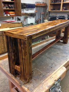 basin barrel works table and matching bench for sale 500 standard