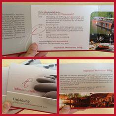 Ta daaa! Das sind unsere neuen schicken Einladungskarten. Wir hoffen, sie gefallen Ihnen genauso gut wie uns. :-)