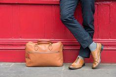 Peper Harow London's signature Boston bag and Lux Taylor socks