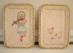 Amy and chickens......I think I need to stitch these >3