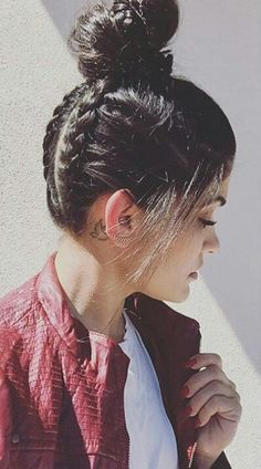 Two braid bun