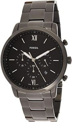 Amazon.com: Fossil Men's Neutra Quartz Stainless Steel Chronograph Watch, Color: Silver (Model: FS5384): Watches Fossil Watches For Men, Men's Watches, Thoughtful Gifts For Him, Black Models, Things To Buy, Chronograph, Gifts For Women, Quartz, Stainless Steel