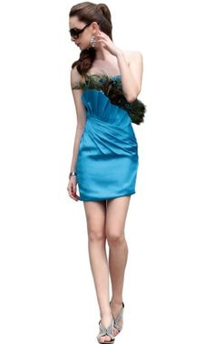Orifashion Stunning Blue Strapless Short Sheath « Dress Adds Everyday