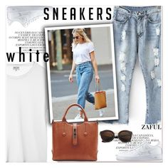 """""""white sneakes"""" by paculi ❤ liked on Polyvore featuring NIKE, whitesneakers and zaful"""