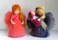 Handmade fairies - Handmade víla z vlny #handmade #fairy #wool #decoration #modrykonik