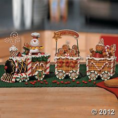 Inspiration photo to create The Gingerbread Express Train.  No instructions - just a pic.