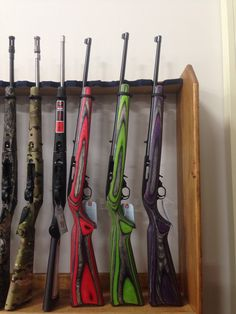 Ruger 10/22. Multi-colored.