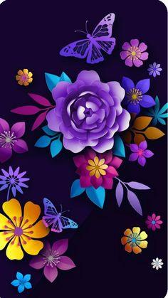 Images By Aneta Ślipek On *wallpaper - Floral - Design   Flowery Wallpaper  78D