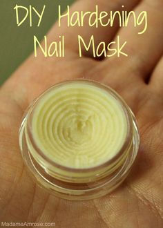 A #DIY Strengthening Nail Mask made with #essentialoils that hardens, cleans, and whitens the nail.