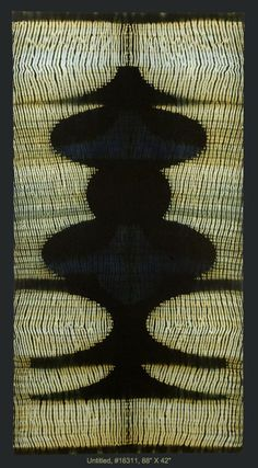 Frank Connet, hand woven wool, Shibori resist, dyed with natural Indigo and Walnut.