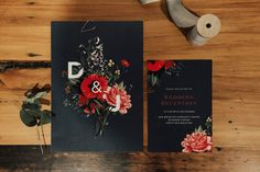 botanical illustration wedding invitation