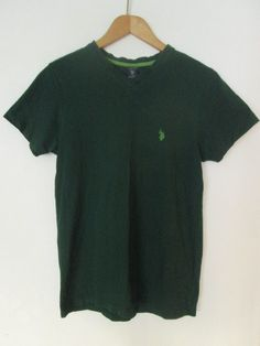 902b0283 Items similar to Vintage U.S. Polo Assn Mens Green V-neck T-Shirt Size S  Small Used Condition on Etsy