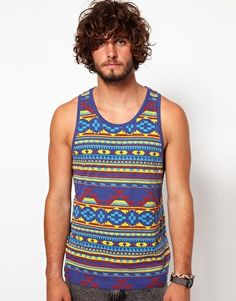 ASOS Vest With All Over Tribal Print