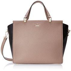 kate spade new york Chelsea Square Hayden Top Handle Bag, Rose Putty/Black, One Size  #love @shoppevero @amazon #shoppevero