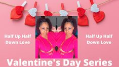 Valentine's Day Inspired Style| Half Up Half Down| with Temporary Hair C... Temporary Hair Color, Half Up Half Down, Love Valentines, Inspired, Inspiration, Style, Biblical Inspiration, Swag, Inspirational
