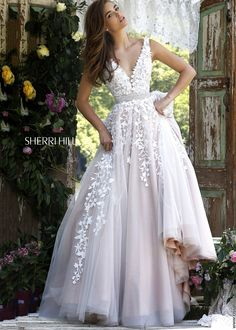 Sherri Hill 11335 Fancy Lace Embroidered Ball Gown