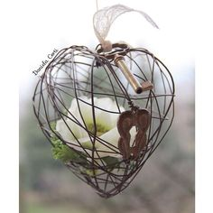 Pure love  - handmade Wire heart  my creation Daniela Corti Fili di poesia