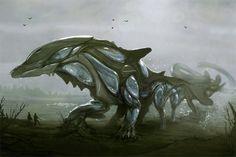 Water Colossus by derangedhyena