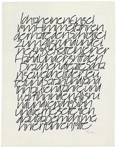 calligraphy, art and design: Hans Joachim Burgert