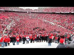 """After the 11/24/2012 OSU vs. M*ch*g@n game, which OSU won, capping off a 12-0 season, tens of thousands of fans rushed the field.  Here, the fans sing """"Sweet Caroline"""".  View from the student section is quite impressive.  Also included is bonus material, two performances from the November 13, 2010 Ohio State University Marching Band half time sh..."""
