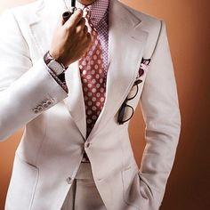Ivory and off-white suiting or worn as a jacket and pants separately is one strong look for Spring/Summer.