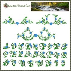 Forget me not lettering. Beautiful to incorporate into my calligraphy!