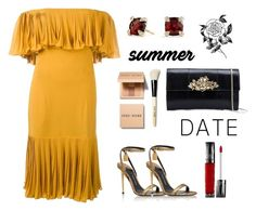 """summer date"" by fanfan-zheng ❤ liked on Polyvore featuring Jean-Louis Scherrer, Tom Ford, Roberto Cavalli, David Yurman, Urban Decay, Forever 21, Bobbi Brown Cosmetics, summerdate and rooftopbar"