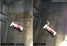 My friend Jen cleaned the back of her mini-van with a wet Norwex envirocloth and Norwex carpet stain buster!  www.amyspairana.norwex.biz