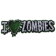 Kreepsville 666 I Heart Zombies Fabric Embroidered Iron on Patch in Music, Music…