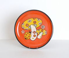 Vintage 70s Mushroom Serving Tray...we had the mushroom theme in our kitchen
