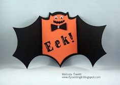 I've gone BATTY for this card! Would make awesome invites!!!