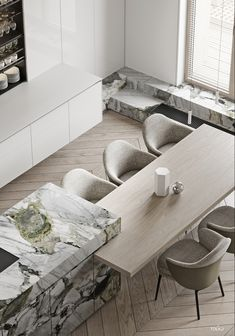 How to design your kitchen design in a thematic area – lamp ideas Modern Kitchen Design, Interior Design Kitchen, Modern Interior Design, Marble Interior, Küchen Design, Home Design, Layout Design, Flat Design, Casa Kardashian